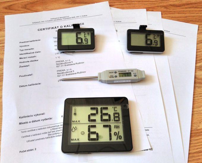 HACCP sada kalibrovaných digitálnych teplomerov